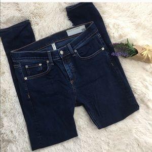 Rag&Bone high rise skinny jeans.